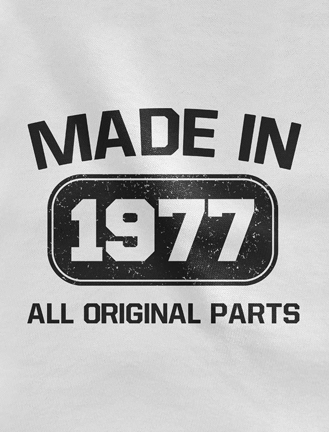 40th Birthday Gift Idea Made in 1977 All Original Parts Racerback Tank Top