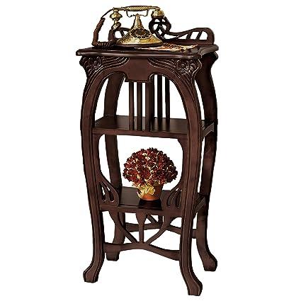 Amazon Com Design Toscano Art Nouveau Harp Side Table Kitchen Dining