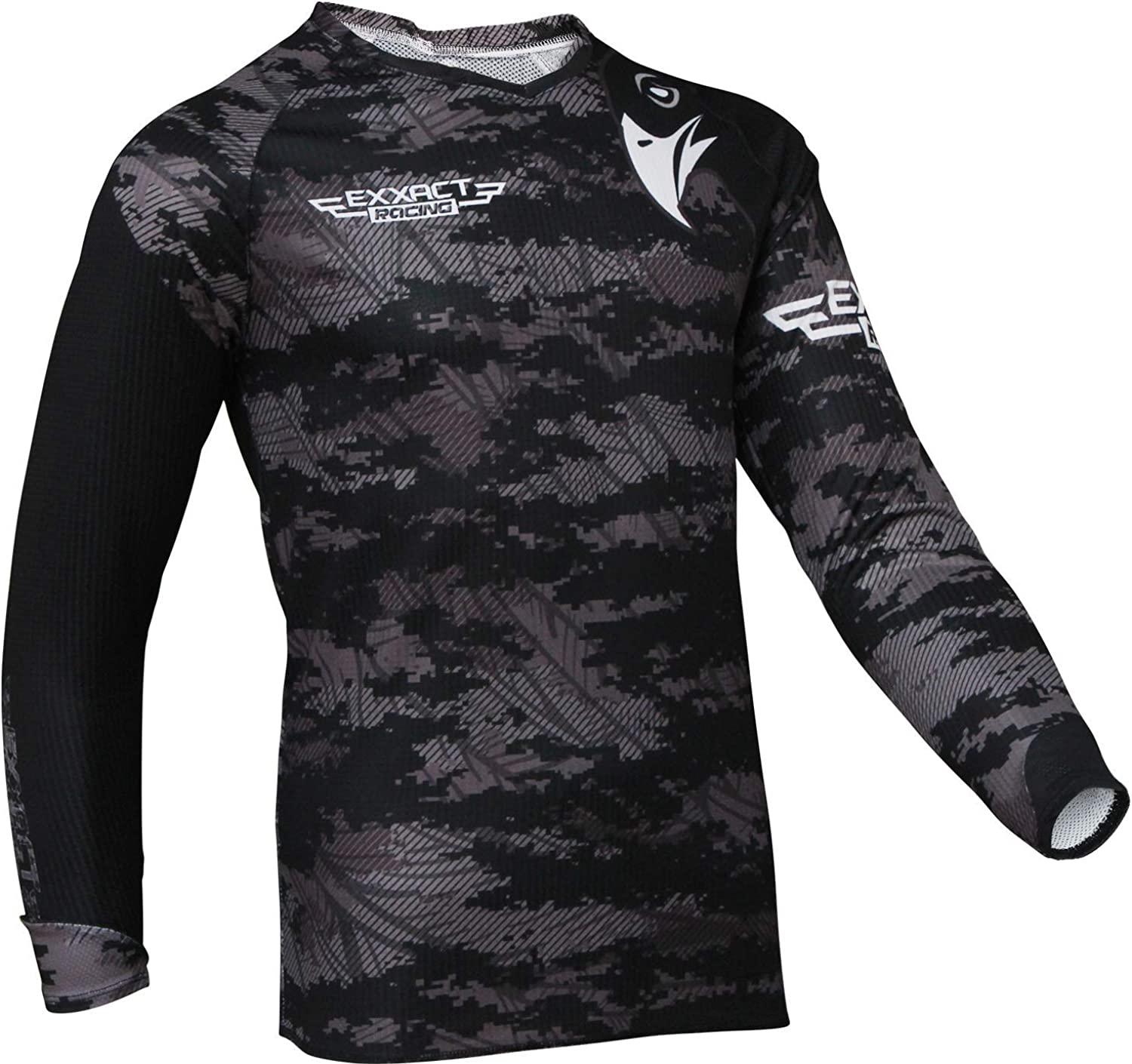Exxact Sports Motocross Jersey with Camouflage Colors Offroad Dirt Bike