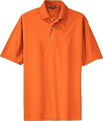 a9989566f Image Unavailable. Image not available for. Color: Sport-Tek - Dri-Mesh Polo.  K469 - Bright Orange_L