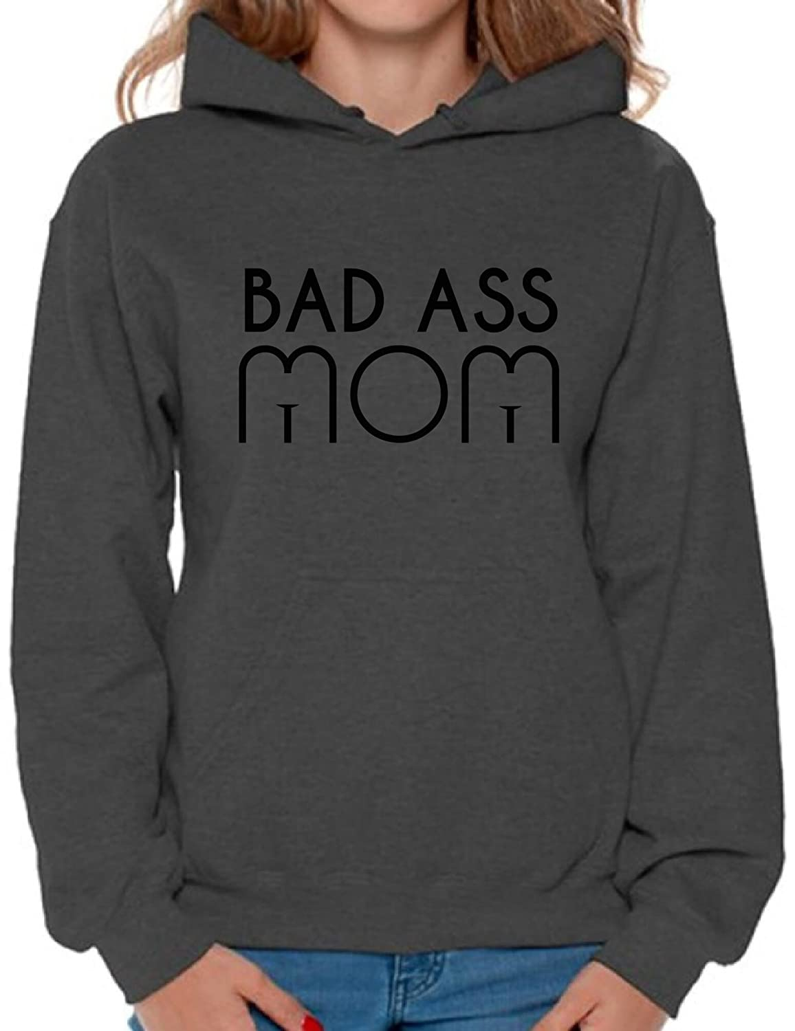 c585838d7 Awkward Styles Women's Bad Ass Mom Funny Graphic Hoodie Tops ...