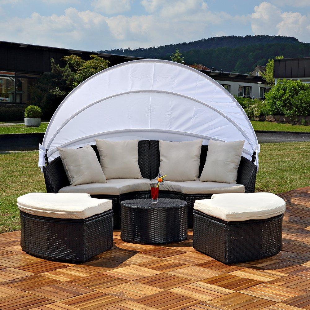Amazon.de: Sonneninsel mit Tisch Rattan Sonneninsel Polyrattan ...