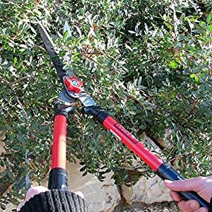 """Tabor Tools B620 Hedge Shears for Trimming Borders, Boxwood, and Bushes. 25"""" Manual Hedge Clippers with Professional Wavy Blade and Comfort Grip Steel Handles."""