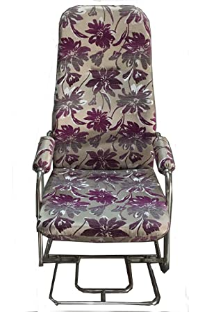 kaushalendra Rocking Chair Stainless Steel Frame and Cushion