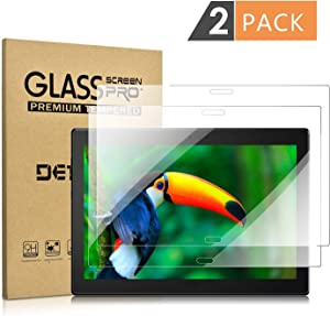 "[2 Pack] Tempered Glass Screen Protector for Lenovo Tab 4 Plus 10""(NOT Lenovo Tab 4 10"") DETUOSI Screen Protector for Lenovo Tab 4 10"" Plus Anti Explosion Scratch Resist Bubble Free Function"