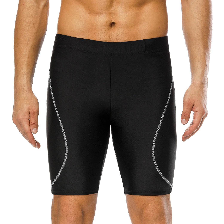 CharmLeaks Men Sports Long Swimming Trunks Beach Swim Boxer Shorts Surf Swim Jammer Bottoms