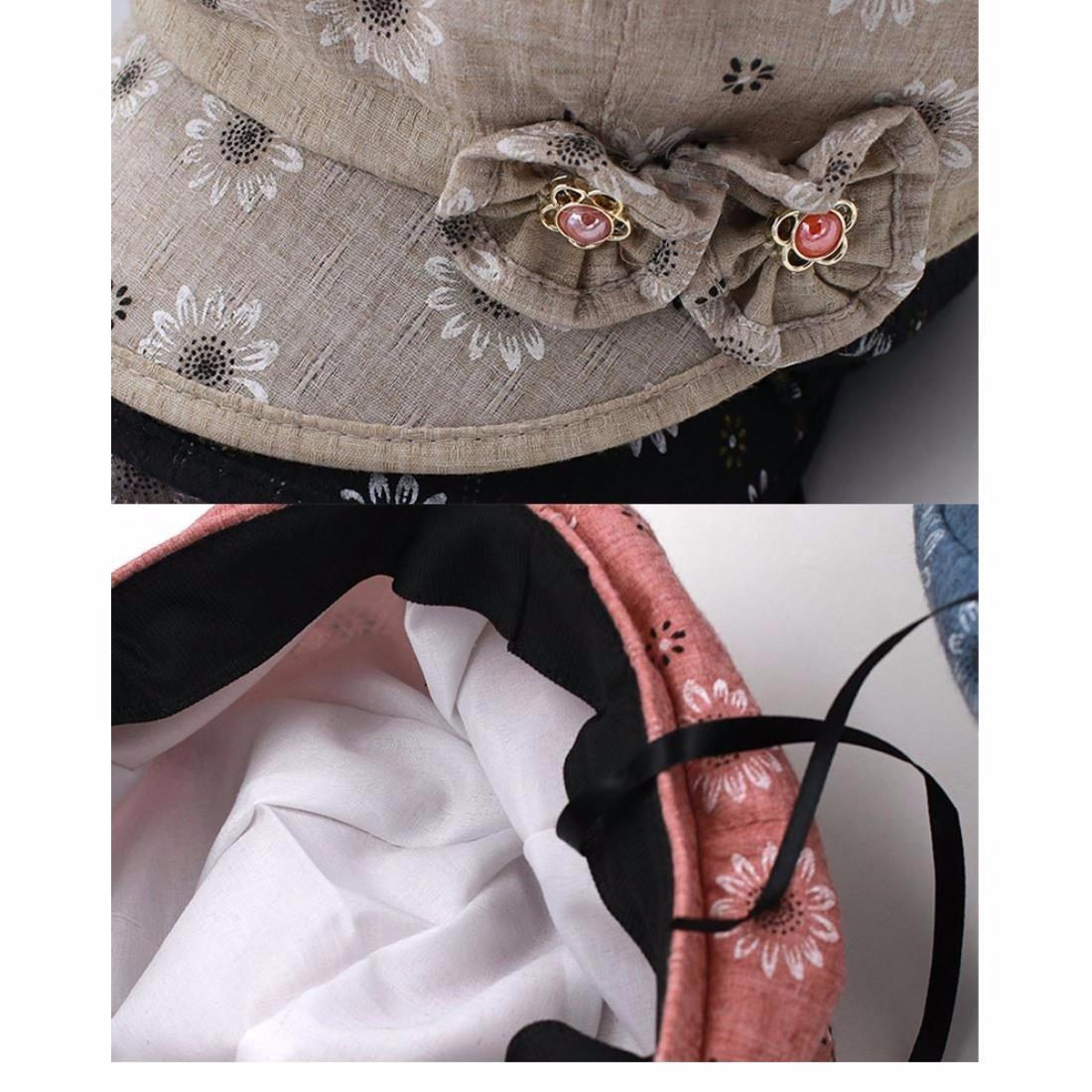 QIER-MZ Boinas Gorras De Tela Para Mujer Gorras Sombreros Finos Sunhats Cap  Respirables Cap Primavera Verano Floral Negro  Amazon.es  Deportes y aire  libre 285ad4f5f7e7