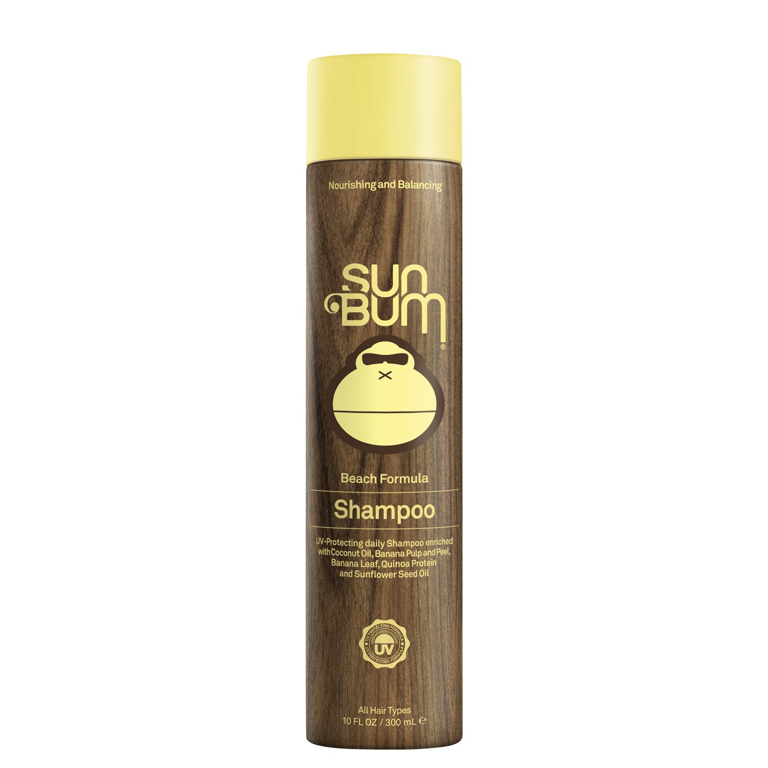 Sun Bum Beach Formula Revitalizing Shampoo, 10 oz. Bottle, 1 Count, UV Protection for Hair, Smoothing and Shine Enhancing, Paraben Free, Gluten Free, Vegan