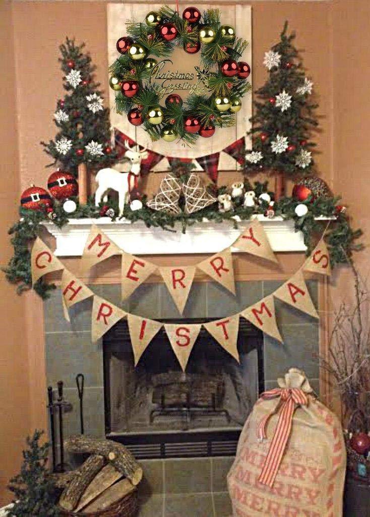 Guirnalda de la Puerta de 16  Campanas de Pino Artificial de la Navidad Guirnalda de la Puerta de la Decoraci/ón de la Estaci/ón con la Guirnalda para Fiesta de Navidad Corona de Navidad