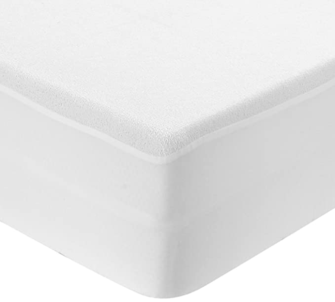 TEXTURAS HOME - Protector de Colchón Impermeable Rizo/PVC (disponible en varios tamaños)  (80_x_190_cm): Amazon.es: Hogar