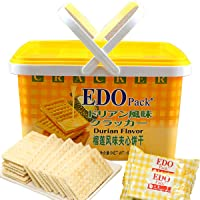 EDO Pack榴莲风味夹心饼干罐装600g