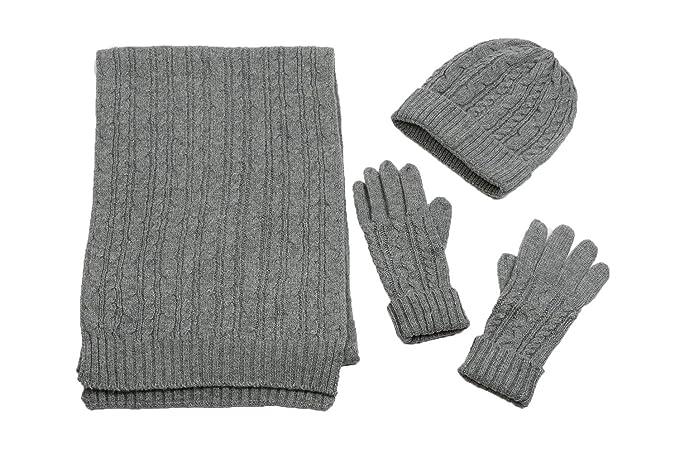 fead68cc82e Christmas Adult 3 Piece Winter Bundle -Men Soft Warm Beanie Hat Gloves    Matching Scarf
