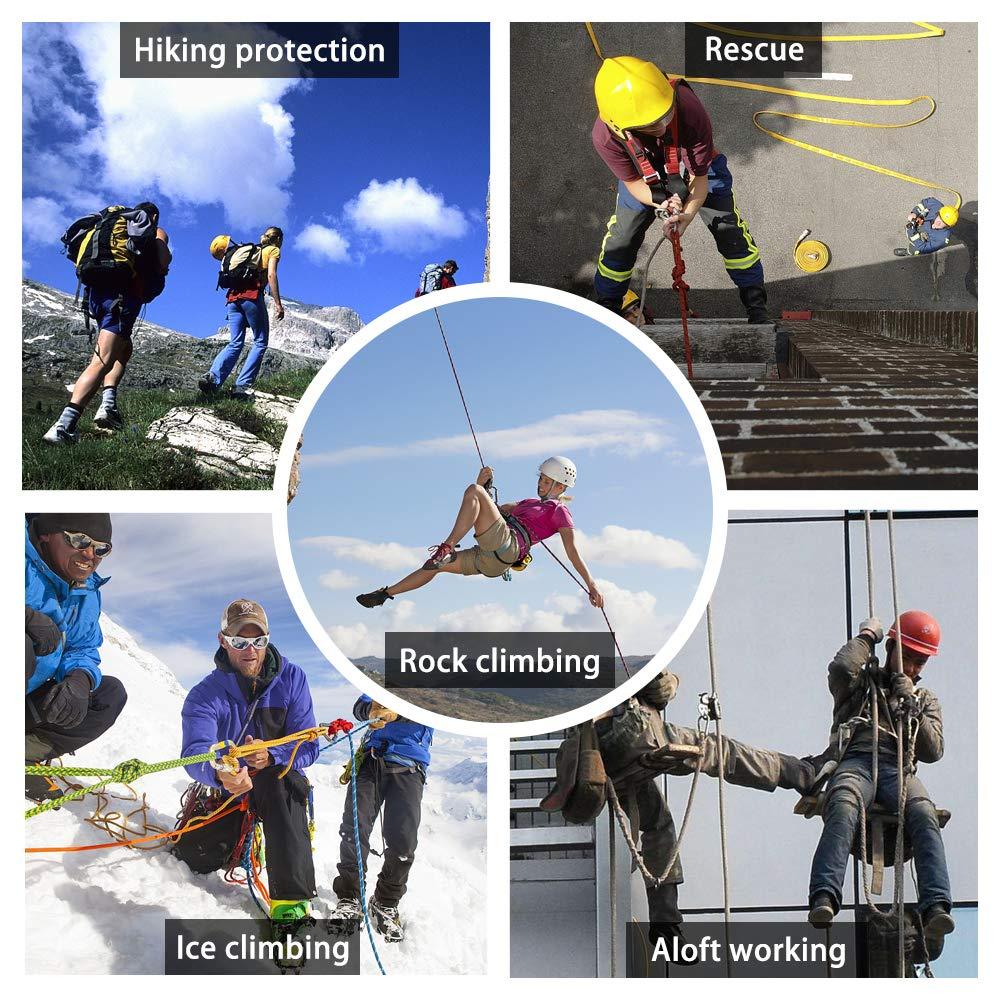 Walmeck-50 Str/änge Klettern Seil Sicherheit Notrettung Rettung /Überleben Aush/öhlen Eisklettern Ausr/üstung Fallschirm Seil 10 Mt 20 Mt 30 Mt