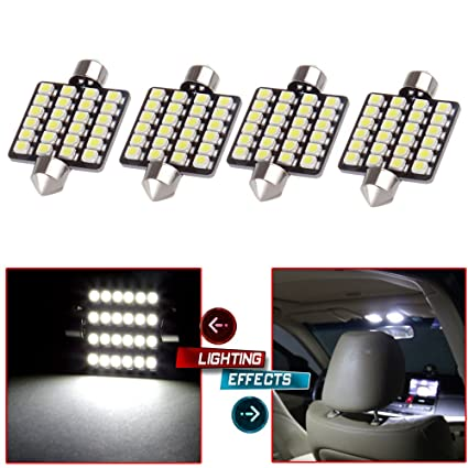 Cciyu 41mm Epistar Festoon Led Bulbs 24 3528 Smd Ultra White Super Bright Interior Car Lights 211 212 2 214 2 211 2 214 2 6411 560 569 578 Fit For