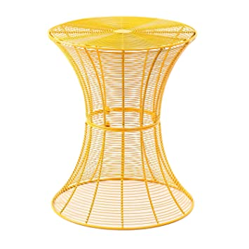 Amazon homebeez round end table side tables iron wire weave homebeez round end table side tables iron wire weave netting multi color yellow keyboard keysfo