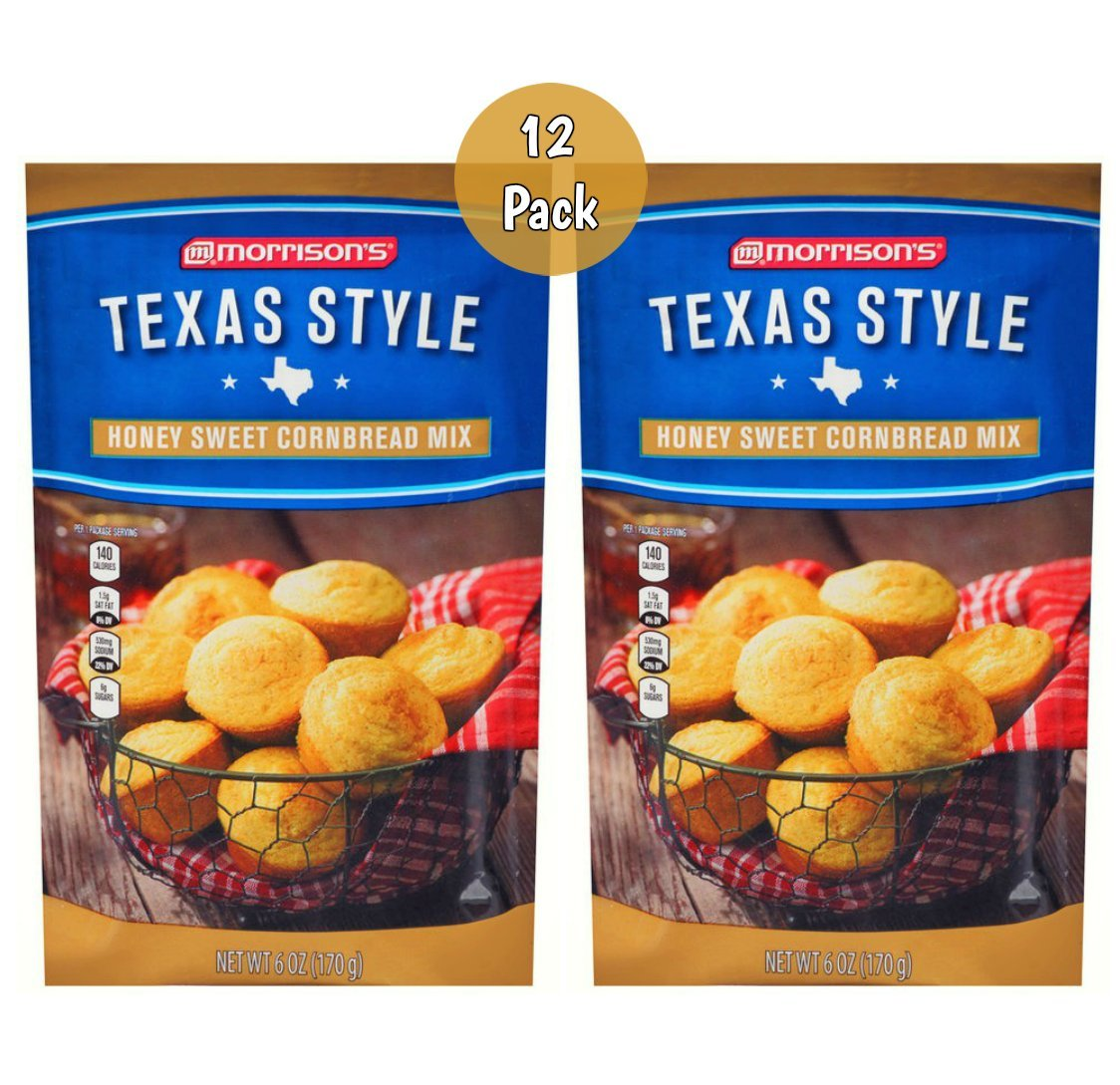 Morrison's Texas Style Honey Sweet Cornbread Mix - 12 Pack (16oz) by FCV