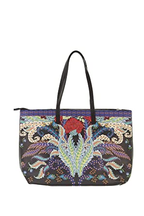 Desigual Feather Redmond Tote Bag Womens Tote Shopper Handbag Purple   Amazon.com.au  Fashion 69dcfe6edd8cb