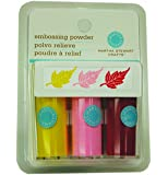 Martha Stewart Crafts Embossing Powders, Pastel, 3-Pack