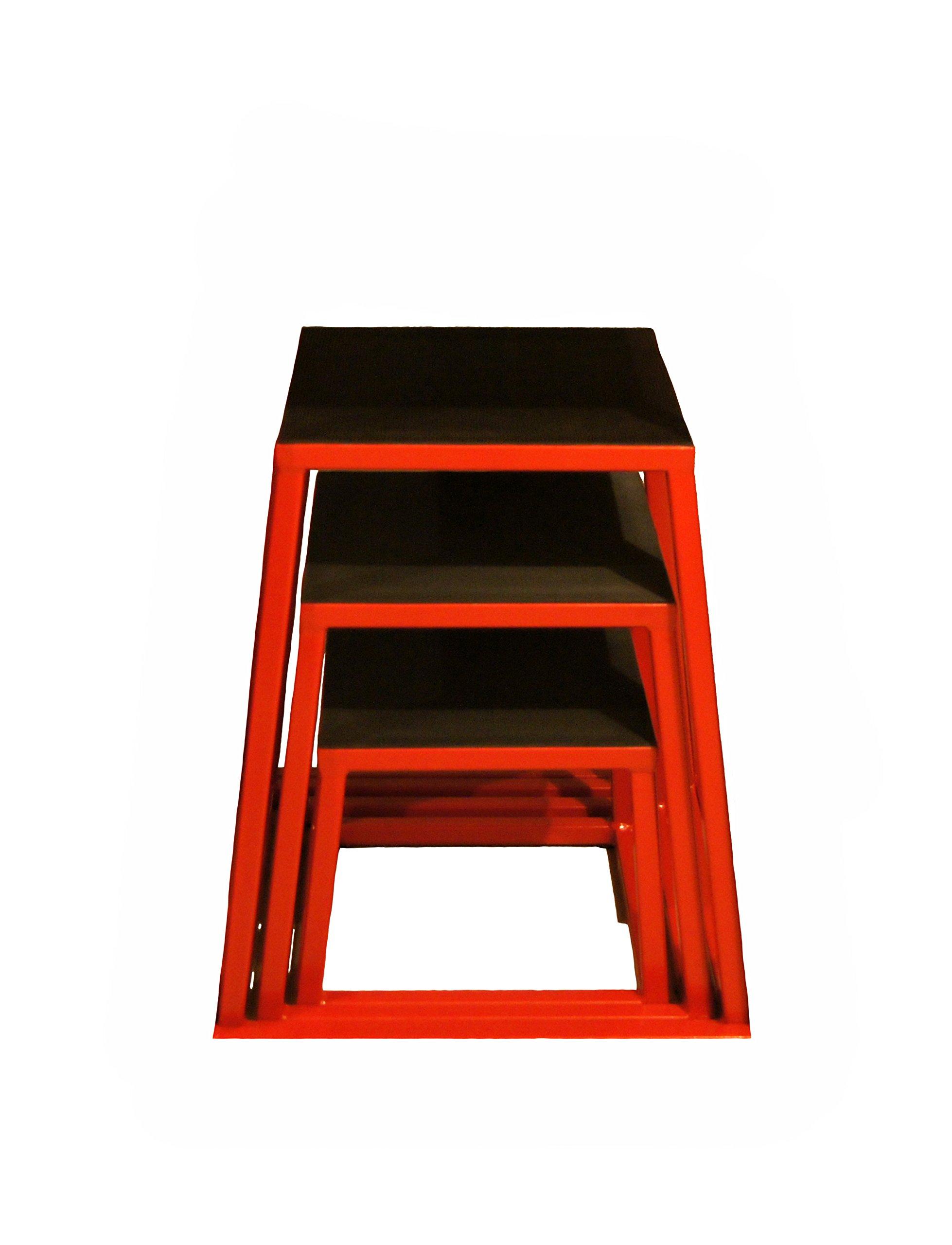 j/fit Plyometric Jump Box Set of 3 - 12'',18'',24''