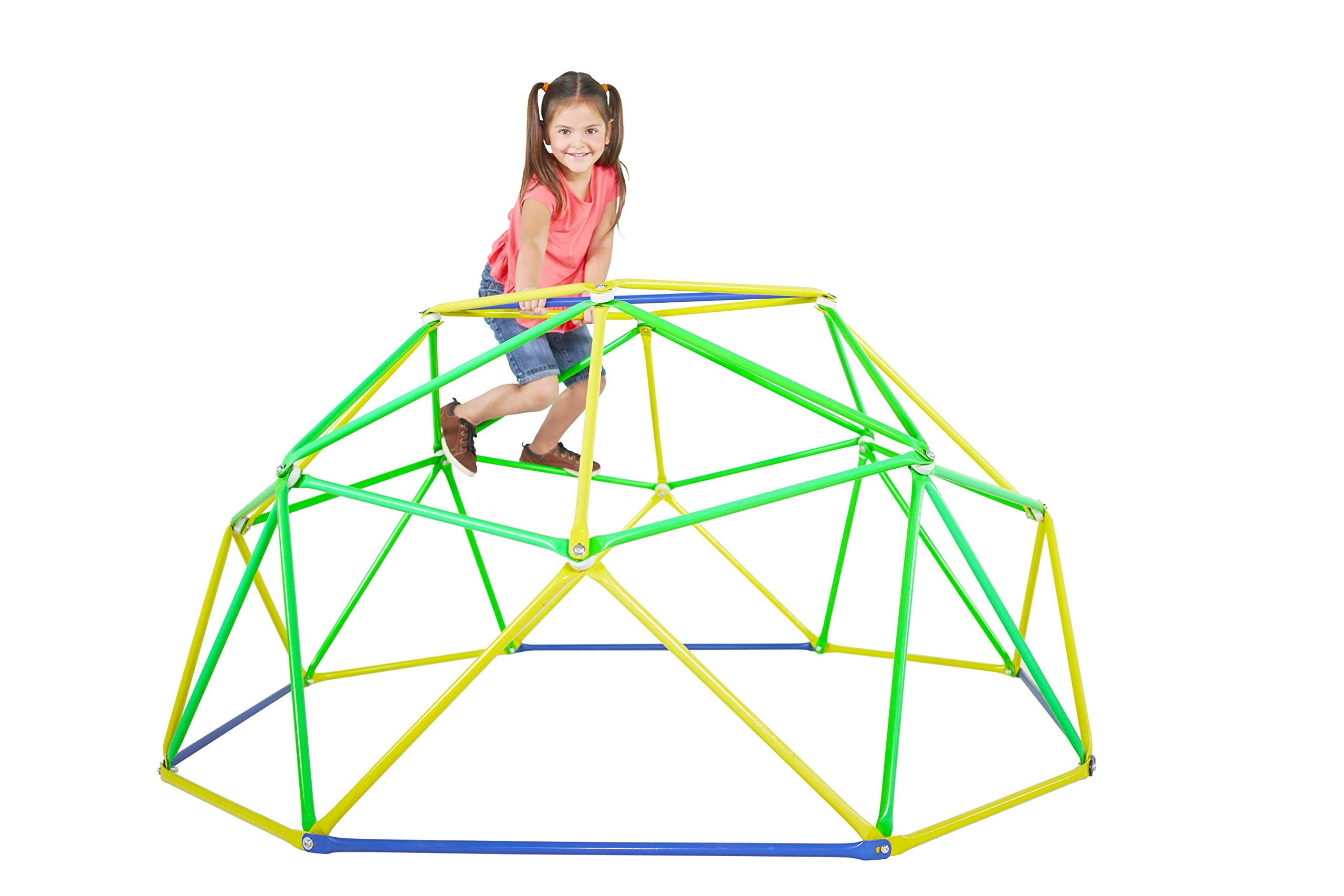 Sportspower Dome Climber with Cover - Outdoor Heavy-Duty Geometric Dome Climber Jungle Gym for Kids
