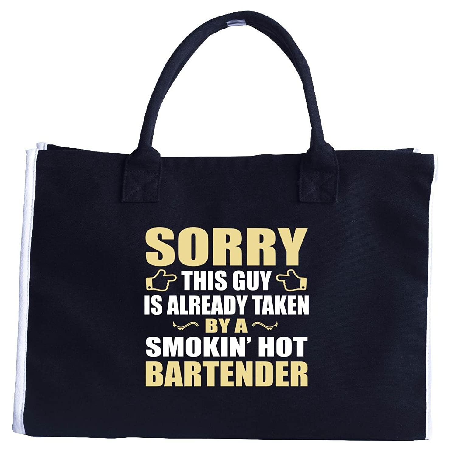 This Guy Is Taken By A Smokin' Hot Bartender - Fashion Customized Tote Bag