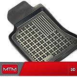 Tapis de sol sur Mesure en Caoutchouc MTM 3D, type Bac avec Rebords 5 cm, Fond Antidérapant, Conçus sur Mesure pour votre Voiture, cod. 5343