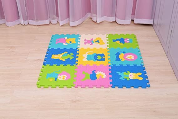Trimming shop 9pcs puzzle play mat non tossico extra spesso