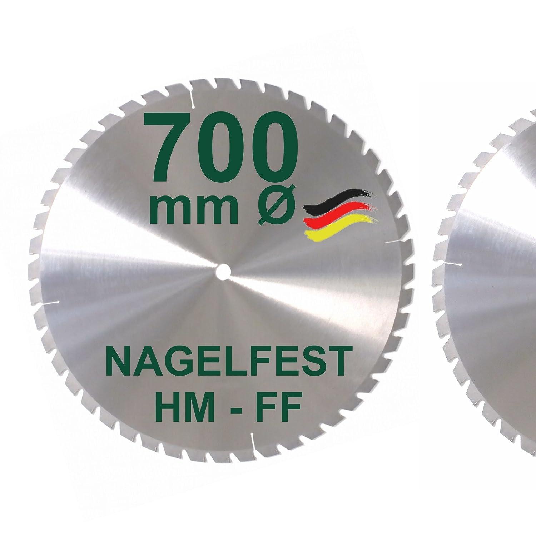 HM S/ägeblatt Kreiss/ägeblatt 700 x 30 mm/Ø NAGELFEST Z = 48 Brennholzs/ägeblatt