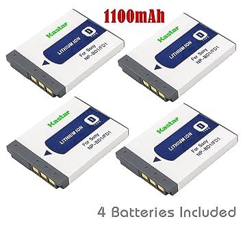 Amazon.com: Kastar Batería y Cargador para Sony NP-BD1 ...