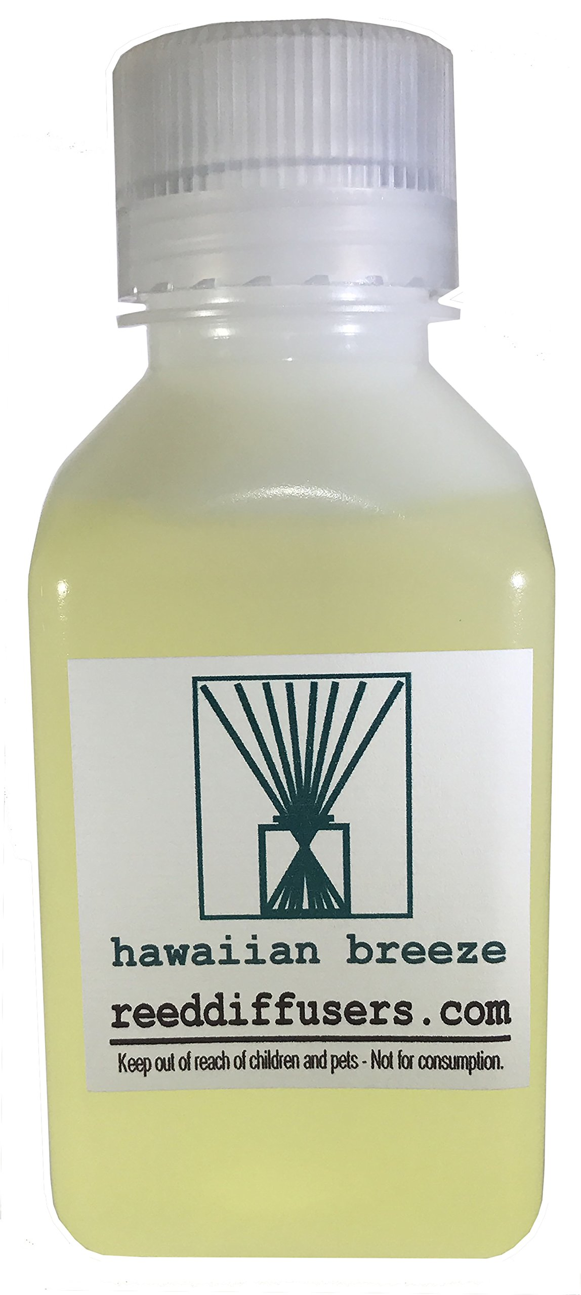 Hawaiian Breeze Fragrance Reed Diffuser Oil Refill - 8oz - Made in the USA by ReedDiffusers.com (Image #1)