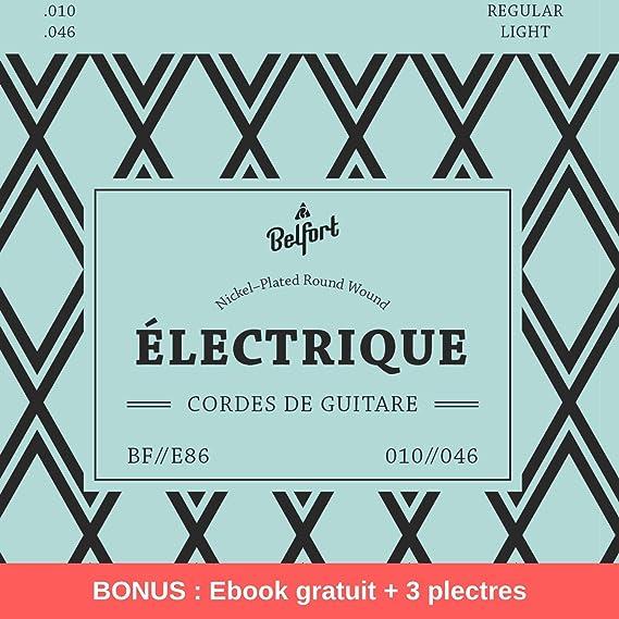 Cuerdas de primera calidad para guitarra eléctrica (juego de 6 ...