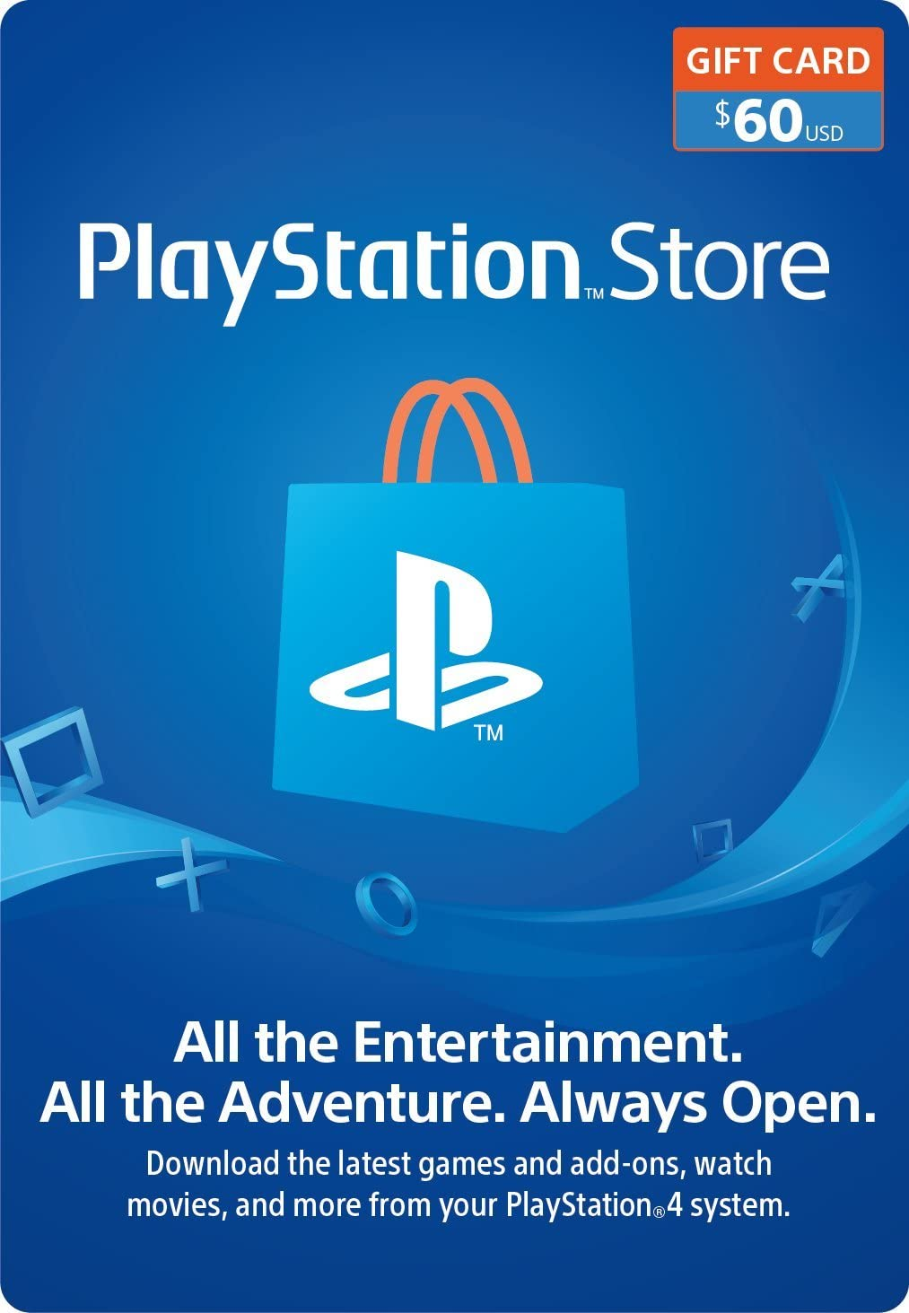 Amazon 60 PlayStation Store Gift Card Digital Code Video Games