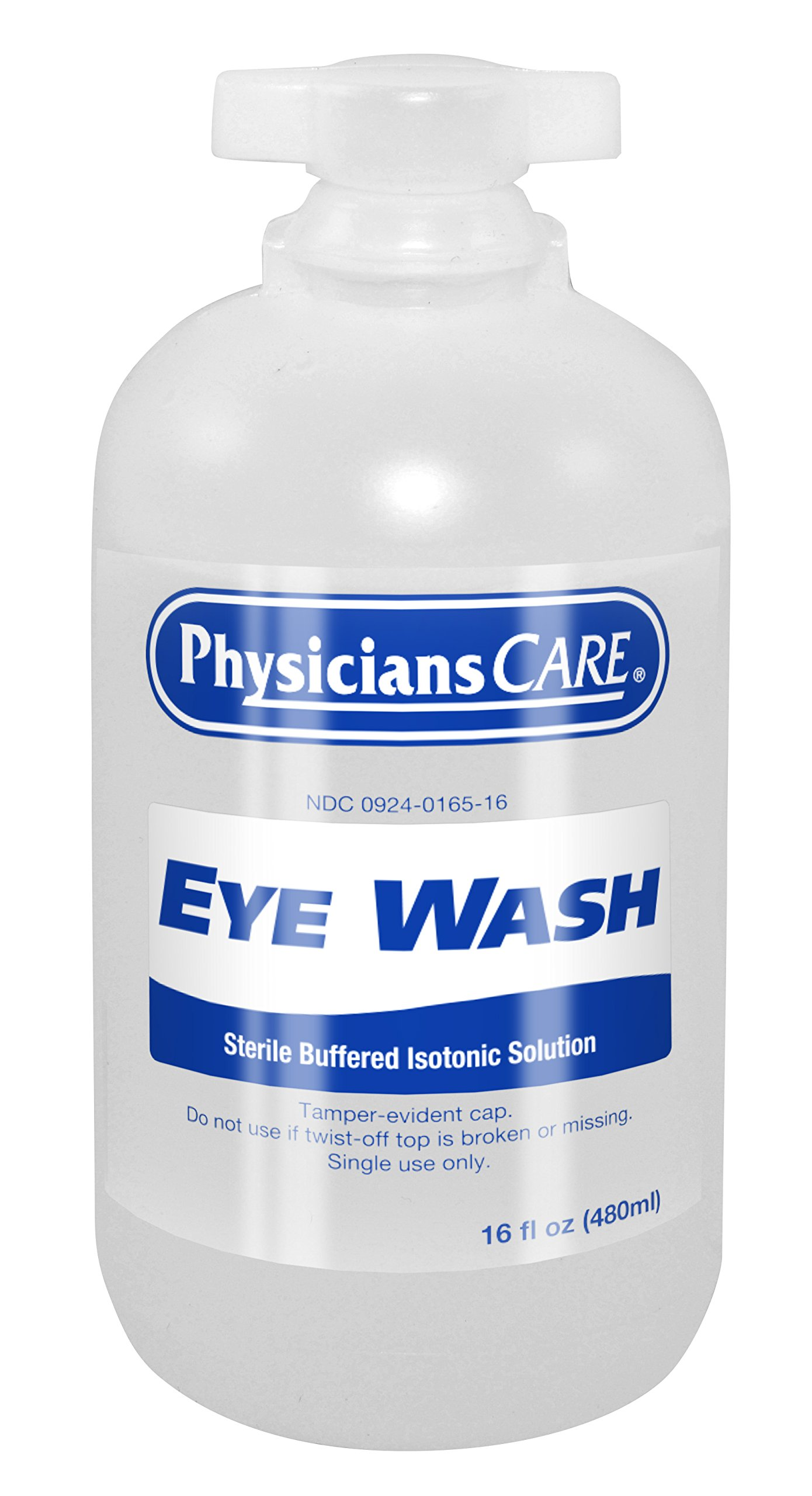 PhysiciansCare by First Aid Only 500-90546 Eyewash Bottle, 16 oz. (Pack of 12)