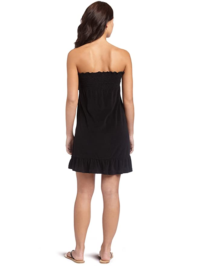 e811b789b66a Amazon.com  Rocawear Women s Smocked Terry Cover Up Dress