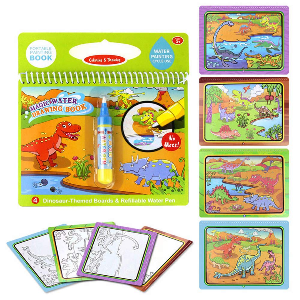 TUSANG Children Water Painting Puzzle Game Board Magic Graffiti Education Color Painting Toys