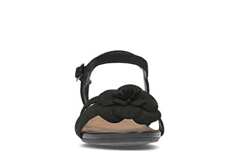 babe0b867a2 Clarks Parram Stella Nubuck Sandals in Black Wide Fit Size 7½  Amazon.co.uk   Shoes   Bags