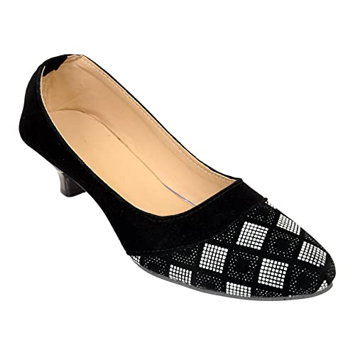 8e4a9358e60 Altek Designer Black   Grey Heel Ballerina for Women  Buy Online at Low  Prices in India - Amazon.in