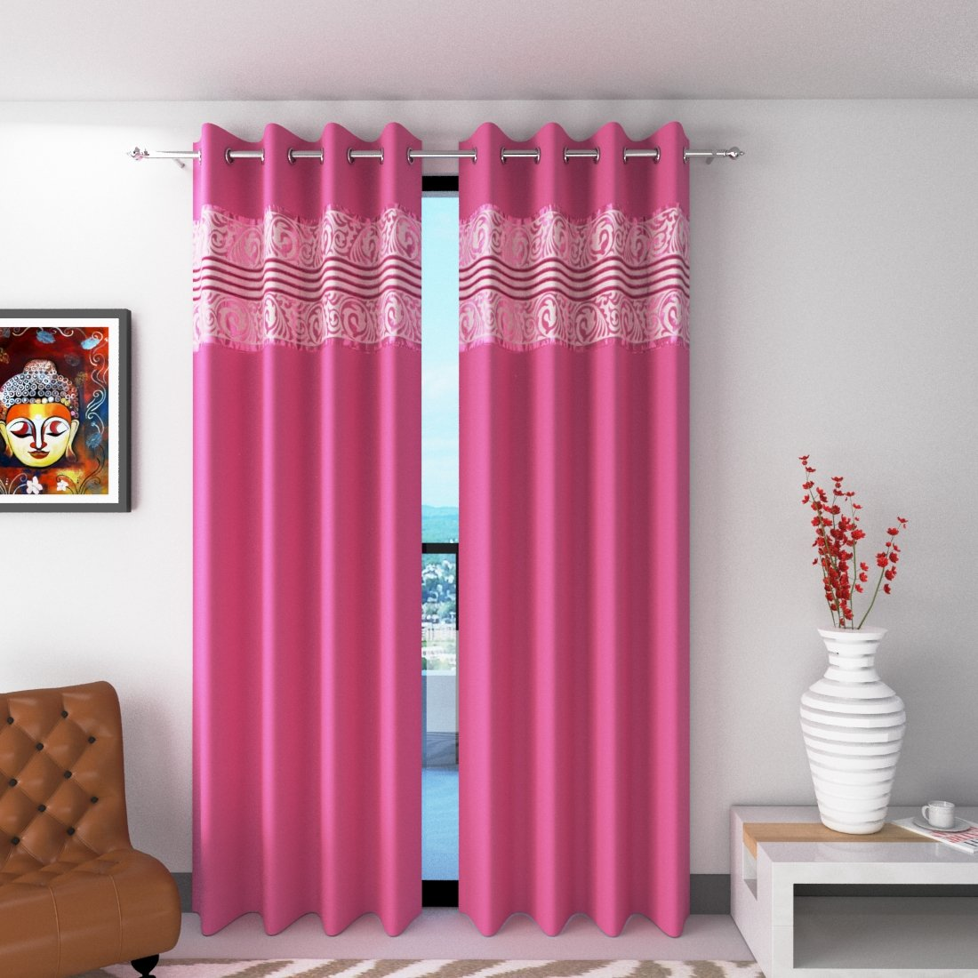 curtains for window 5 feet by La elite |curtains 5 feet set of 2 |window  curtains cotton ployester blend |curtains for bedroom window |curtains  living ...