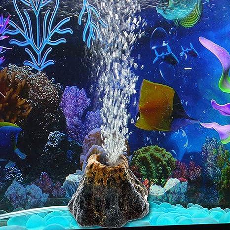 TONGXU Piedra de Burbujas de Aire para Acuario Bomba de Oxigeno Ornamento Decoración de Pecera Acuario