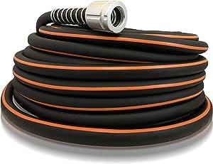 Flexon FLXP58100CN Flextreme Performance Rubber Garden Hose, 100ft, Black
