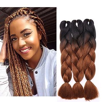 Extension a Clip Cheveux Naturel Tresse Jumbo Braiding Hair