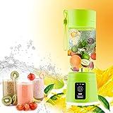 Portable Juicer Multifunction 380ML Mini USB Electric Fruit Juicer CUP Rechargeable Smoothie Maker Blender Drink Bottle (GREEN)