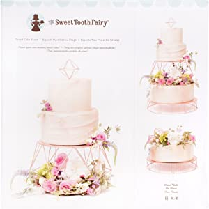 American Crafts 19 Piece Tiered Rose Gold Stand Sweet Tooth Fairy Cake Decorating