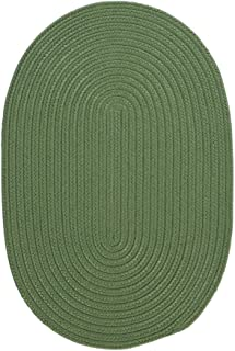 product image for Colonial Mills Boca Raton Braided Polypropylene Moss Green 7'x9' Oval Rug