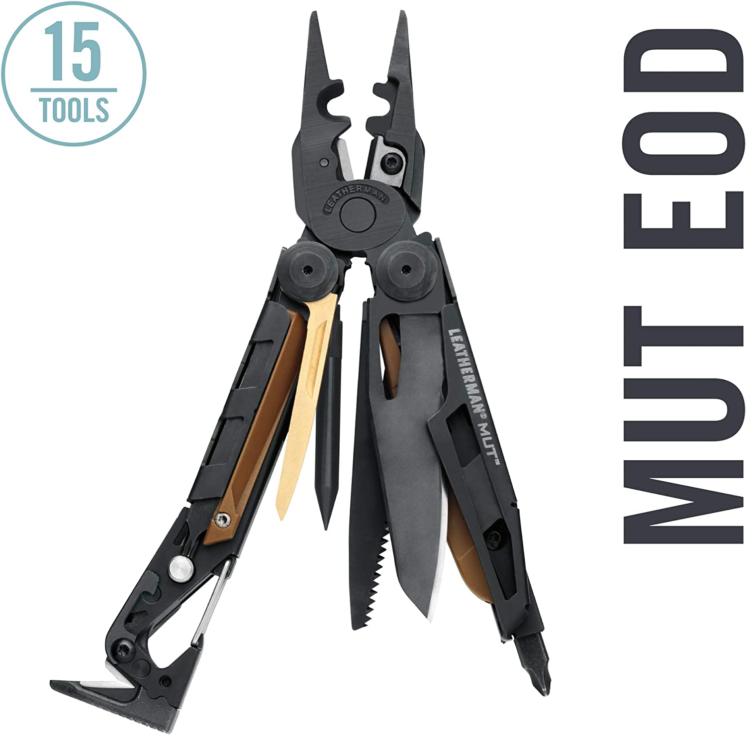 LEATHERMAN – MUT EOD Multitool with Firearm and EOD Tools for Technicians, Black with MOLLE Black Sheath FFP
