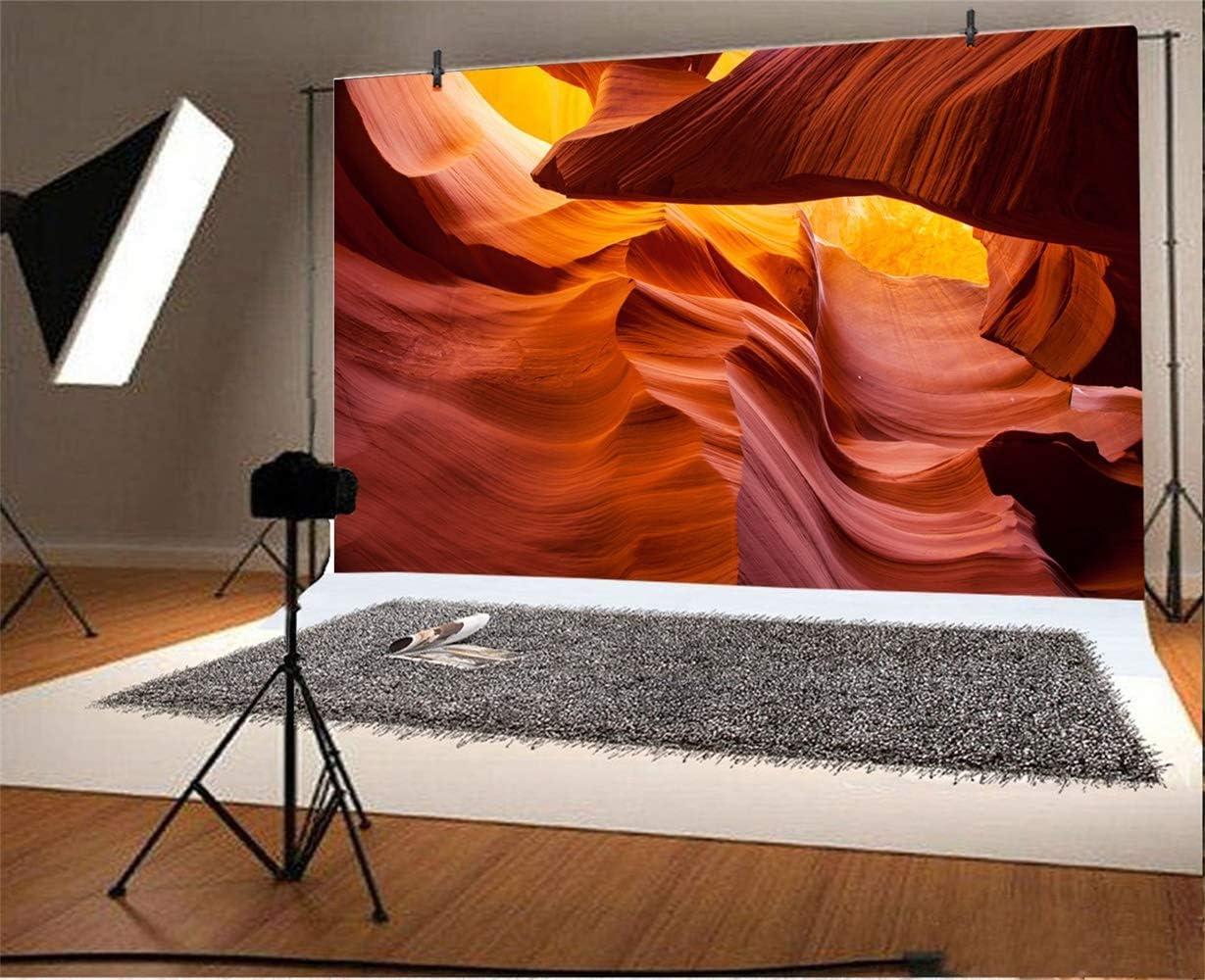 10x7ft Solitude Weathered Canyon Sandstones Upward View Background for Photography Arizona Geologic Nature Scenery Backdrop Indoor Decoration Landscape Wallpaper Studio
