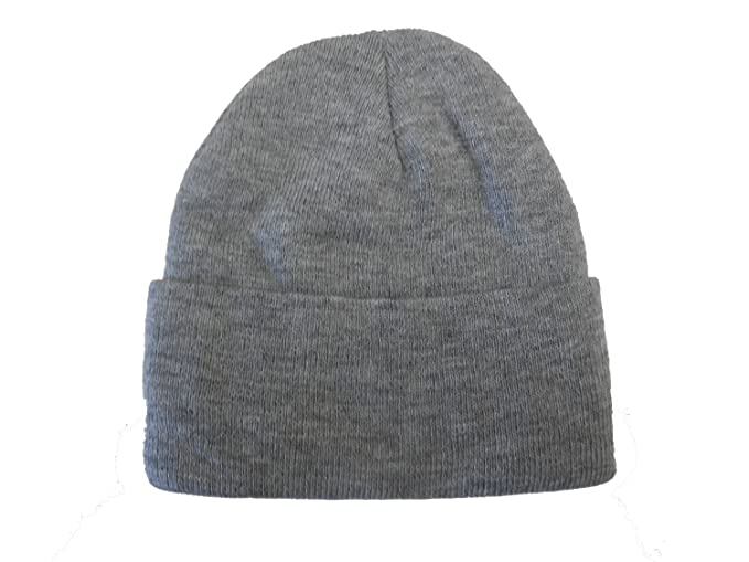 Long Beanie  Heather Gray   Knit Ski Hat   Warm In Winter! at Amazon ... c61715a7fb9