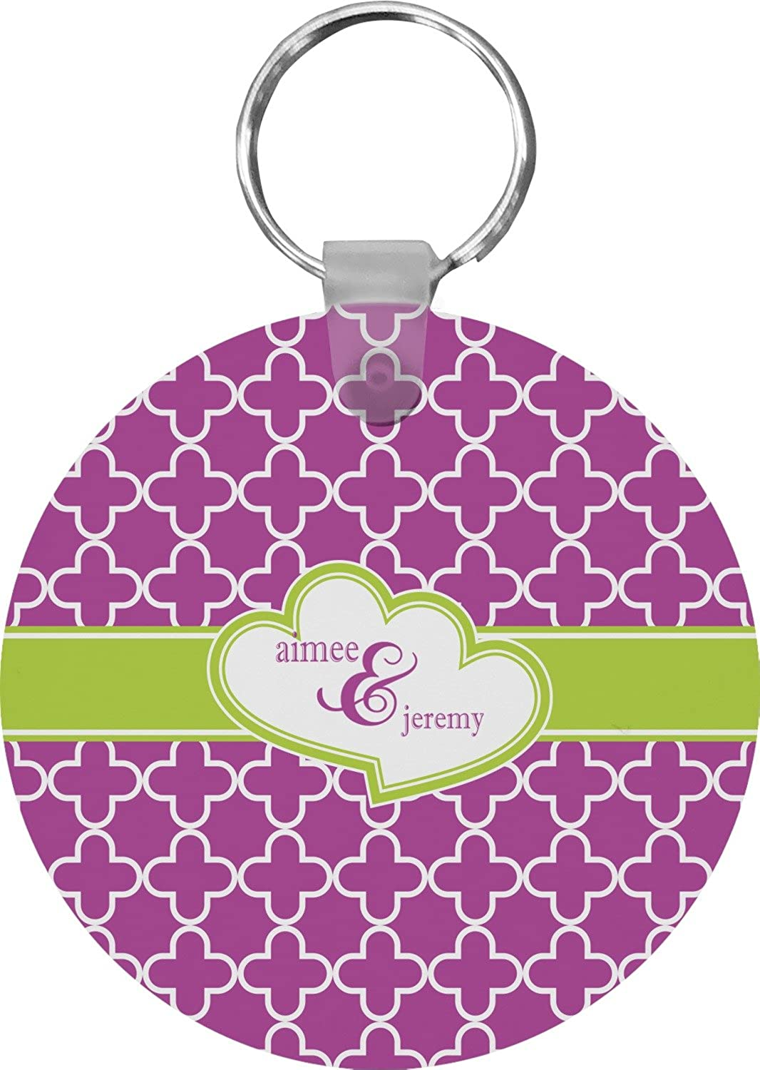 Clover Round Keychain (Personalized)
