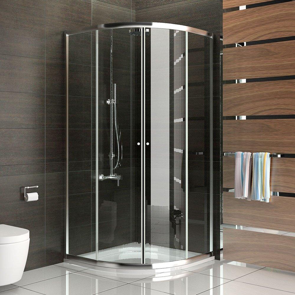Relativ Duschkabine Dusche mit Rahmen Viertelkreis Schiebetür  BV82