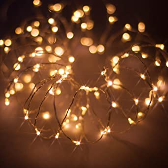 Micro Christmas Lights.Micro Led Christmas Fairy Lights On Thin Wire Led String Lights By Qbis Uk Warm White Silver Wire 100 Leds